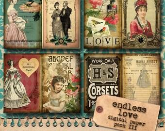 Printable Journal Kit 'Endless Love' - Paper Pack III