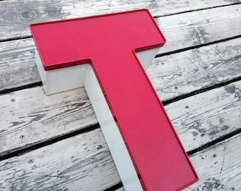 T - Reclaimed Metal letter - XL