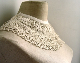 handmade french lace collar