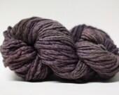 Thick and Thin Yarn Slub TTS Handdyed  Fine Merino 66tts14020 Goth Lilac