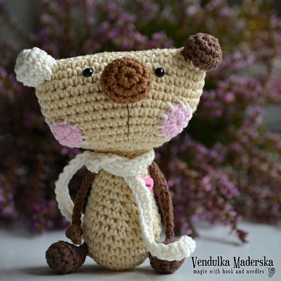 crochet teddy bear pattern from Magic with Hook and Needles