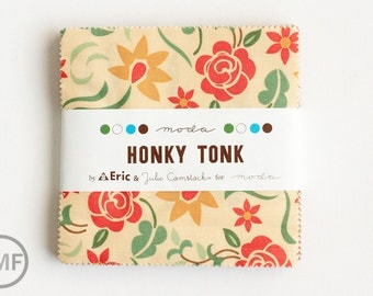 Honky Tonk Charm Pack, Eric and Julie Comstock for Cosmo Cricket, Moda Fabrics, Pre-Cut Fabric Squares, 37080PP