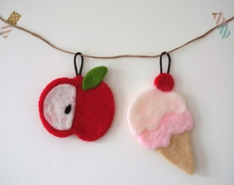 Handmade Acrylic Fiber cleaning and wash cloth - Apple and Ice- cream