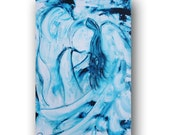 Angel Painting, Painting on Canvas, Blue Painting, Spiritual Painting, Contemporary Painting, Large Original Painting, 36 x 24, Heather Day