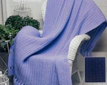 The Needlecraft Shop COZY COMFORT By Pamela Noel - Crochet Afghan Collector's Series Pattern