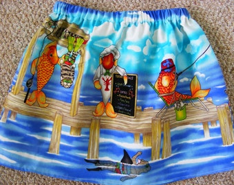 Clearance Michael Miller  Catch of the Day  Skirt (4T, 5, 6, 7, 8, 10)