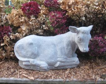 Concrete Cow statue