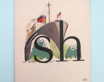 Flash Card VIntage Ship