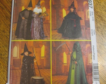 EASY Magical Costumes for Children - Wizard Robes, Witch Cape & Hat, Sorcerer Costume - UNCUT Sewing Pattern McCalls 2937