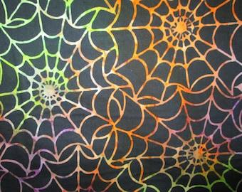 Spider Web Spiderweb Mulit Colors Cotton Fabric Fat Quarter or Custom Listing