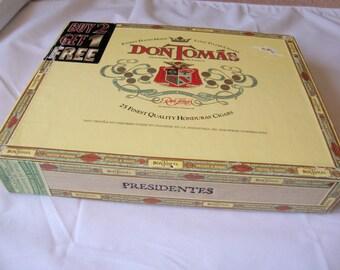 Cigar Box Wooden Don Tomas
