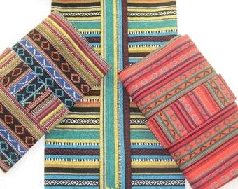 YOGA mat bags - beautiful / heavy duty Indonesian woven fabrics - ROOMY & Easy to use. UNISEX
