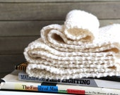 Cream Knit Infinity Scarf