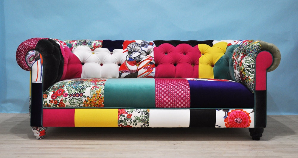 Color Patch Chesterfield Patchwork Sofa By Namedesignstudio