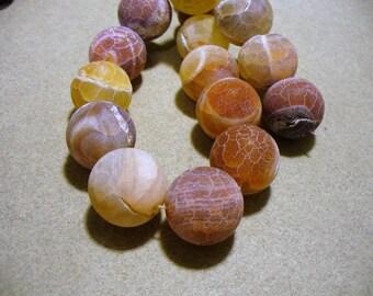 Fire Agate Beads Gemstone Round 16mm