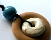 Porcelain & Wood Nursing Necklace