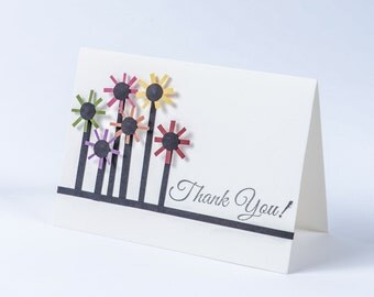 Saying Thank You with Flowers - Blank