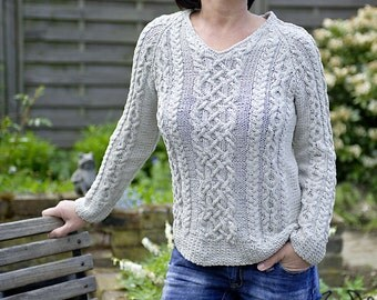 "Pattern for cable sweater ""Joyce"""