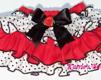 Ruffle Diaper Cover / Ruffle Bloomer / Sassy Pants / Red / Ruffles / Newborn / Infant / Baby / Girl / Toddler / Custom Boutique Clothing