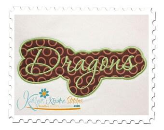 Dragons Applique Script