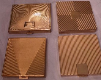 Antique stripes lines your pick Designer majestic revlon coty dunhill compact compacts purse altered arts jewelry collectibles shrines