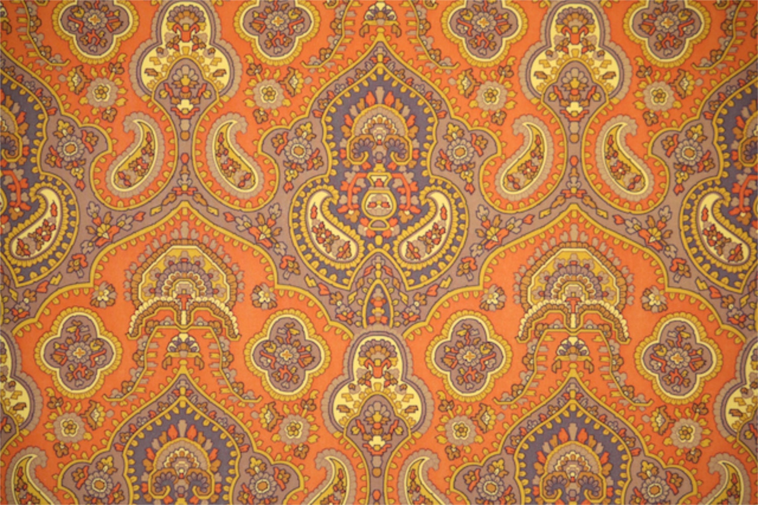 vintage wallpaper by the yard 70s retro by retrowallpaper