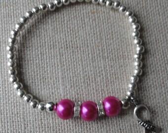 073 Breast Cancer Awareness Bracelet