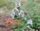 PEPPERMINT Organic Essential Oil - 1/2 or 1 oz. size (NATURAL, Pure, Uncut)