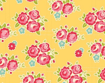 Sidewalks by October Afternoon for Riley Blake Designs - Floral in Yellow - 1/2 Yard