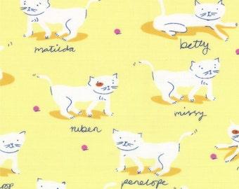 Hello Petal by Aneela Hoey for Moda - Kitty Cats in Delightful