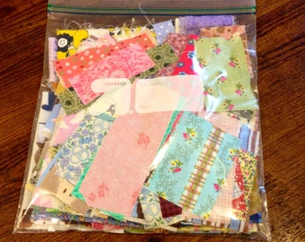 Fabric Destash** Awesome Generous 1/2lb Premium Designer Cotton Scraps!! Grab Bag**