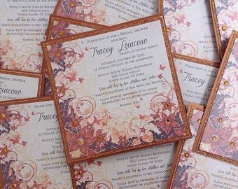Autumn Elegance Square Invitation