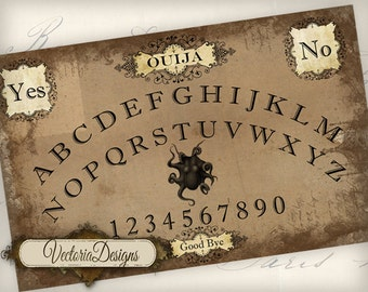 Printable Ouija Board Large Shabby Chic instant download digital collage sheet VD0522