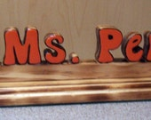 TORCHED Owl Nameplate Personalized