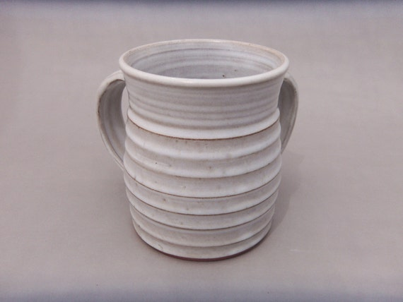 White Washing Cup Two Handled Negel Vasser