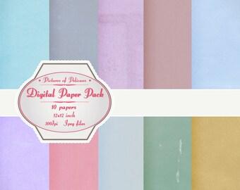 Digital Paper - vintage scrapbook papers - Instant Download