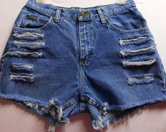 Vintage 80's High Waisted Shorts Waist 29 inches