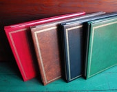 Vintage Photo Scrapbook Albums, Unused Vintage Album, Gold Embossed Greek Key Border