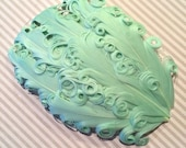 Mint Green Feather Pad - Nagorie Curly Feather Pad - Light Pastel Green Seafoam  FP116 - (1 piece)