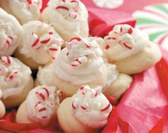 Christmas Peppermint Melt Cookies