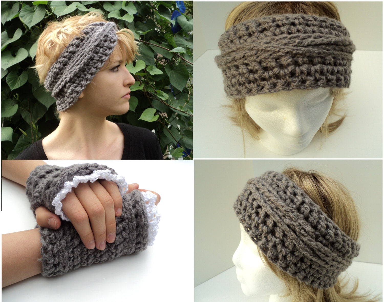 Crochet pattern bohemian braids headband and matching fingerless crochet pattern bohemian braids headband and matching fingerless gloves with lace edging bankloansurffo Images