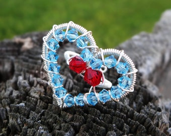 Legend of Zelda® Inspired Classic Crystal Heart Container Ring