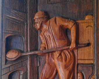 French woodcarving of a Baker (Boulanger)