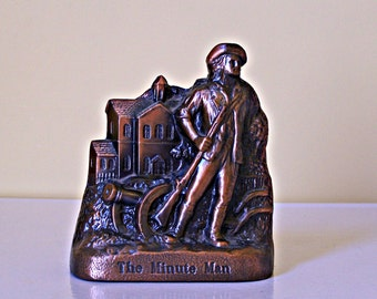 Vintage Minute Man Coin Bank  Banthrico
