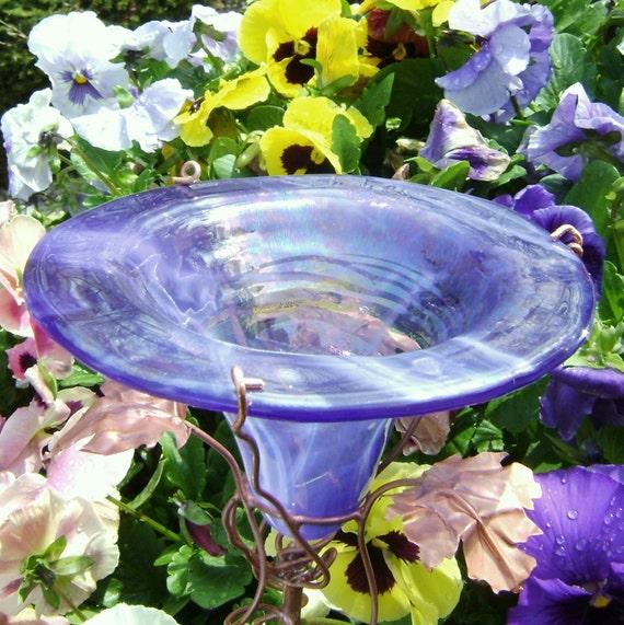 Bridal Shower Gift, Butterfly feeder, stained glass, copper, Lavender, Iridescent, Bird Feeder, Garden Art