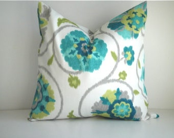 Indoor / Outdoor Designer Pillow Covers, Same Fabric On Both Sides,  Available in Different Sizes