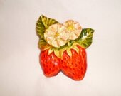Vintage West German Strawberry Brooch/Pin  Victorian Bohemian Shabby Chic Jewelry