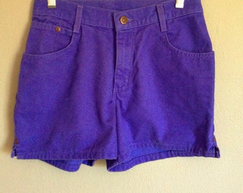 Vintage 90s Purple Cotton Denim Shorts