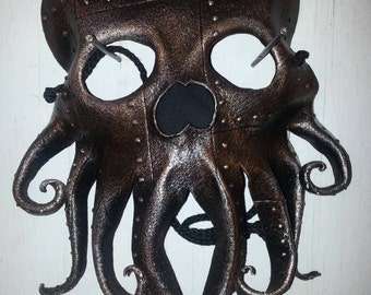 Steampunk Cthulhu Tentacles Leather mask