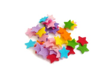 Pre cut felt shapes confetti stars rainbow felt shapes Size: 3/4 inch / 1.9 cm Art and craft